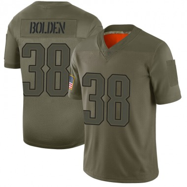 Men's Nike New England Patriots Brandon Bolden 2019 Salute to Service Jersey - Camo Limited