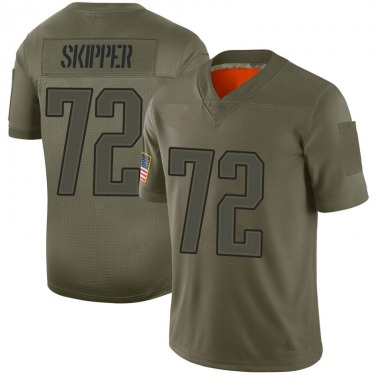 Men's Nike New England Patriots Dan Skipper 2019 Salute to Service Jersey - Camo Limited