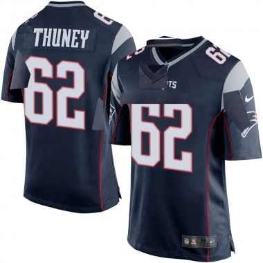 Men's Nike New England Patriots Joe Thuney Team Color Jersey - Navy Blue Game