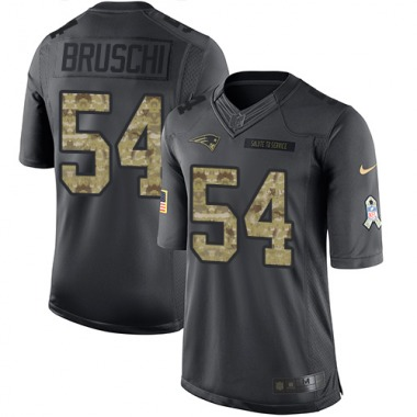 Men's Nike New England Patriots Tedy Bruschi 2016 Salute to Service Jersey - Black Limited