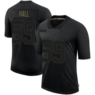 Men's Nike New England Patriots Terez Hall 2020 Salute To Service Jersey - Black Limited