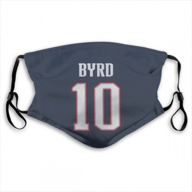 New England Patriots Damiere Byrd Jersey Name and Number Face Mask - Navy