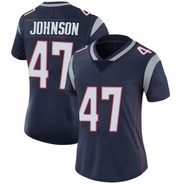 Women's Nike New England Patriots Jakob Johnson 100th Vapor Jersey - Navy Limited