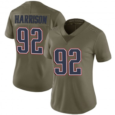 Women's Nike New England Patriots James Harrison 2017 Salute to Service Jersey - Green Limited