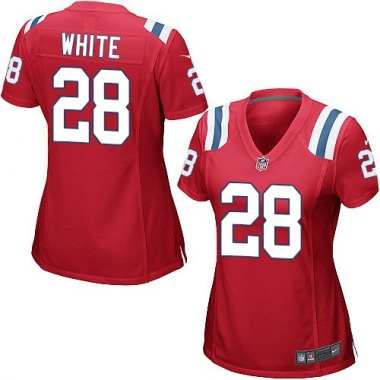 Women's Nike New England Patriots James White Alternate Jersey - Red Game