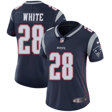 Women's Nike New England Patriots James White Team Color Jersey - Navy Blue Limited