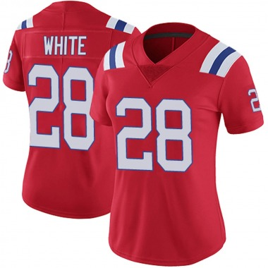 Women's Nike New England Patriots James White Vapor Untouchable Alternate Jersey - Red Limited
