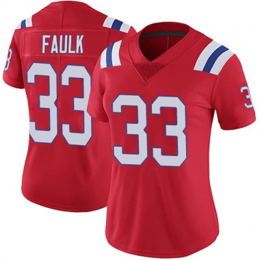 Women's Nike New England Patriots Kevin Faulk Vapor Untouchable Alternate Jersey - Red Limited