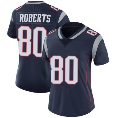 Women's Nike New England Patriots Michael Roberts 100th Vapor Jersey - Navy Limited