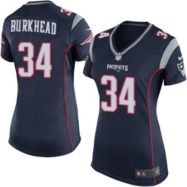 Women's Nike New England Patriots Rex Burkhead Team Color Jersey - Navy Blue Game