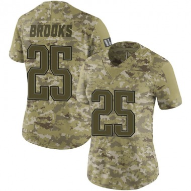 Women's Nike New England Patriots Terrence Brooks 2018 Salute to Service Jersey - Camo Limited