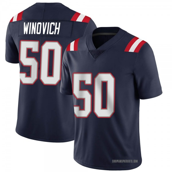 Youth Nike New England Patriots Chase Winovich Team Color Vapor Untouchable Jersey - Navy Limited