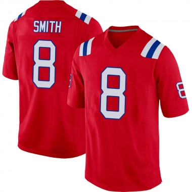 Youth Nike New England Patriots J'Mar Smith Alternate Jersey - Red Game
