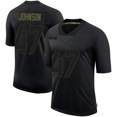 Youth Nike New England Patriots Jakob Johnson 2020 Salute To Service Jersey - Black Limited