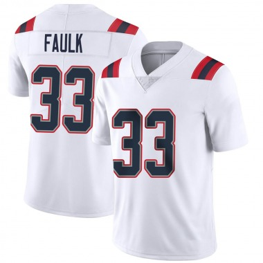 Youth Nike New England Patriots Kevin Faulk Vapor Untouchable Jersey - White Limited