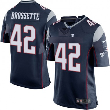 Youth Nike New England Patriots Nick Brossette Team Color Jersey - Navy Blue Game